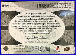 09-10 WAYNE GRETZKY Sp Game Used Inked sweaters AUTO JERSEY CARD #/15 RARE
