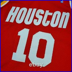 100% Authentic Sam Cassell Champion Rookie Rockets Game Worn Jersey LOA used