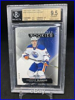15/16 SP Game Used Connor Mcdavid Authentic True Rookie /97 BGS 9.5 POP 9