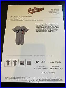 1962 Willie Davis Game Used Los Angeles Dodgers Jersey With Heritage COA