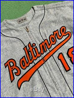 1965 Don Larsen Baltimore Orioles Game-Used & Autographed Road Flannel Jersey