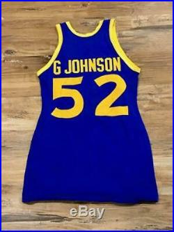 1972 1973 Golden State Warriors Game Used Worn Road Jersey George Johnson