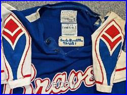 1972 Game Used Atlanta Braves Jersey of Lew Burdette Feather patches