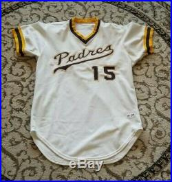 1977 San Diego Padres Home Game Used Jersey Mike Ivie
