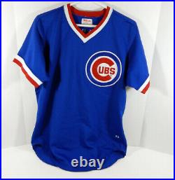 1983 Chicago Cubs Dickie Noles #48 Game Used Blue Jersey