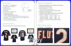 1986 Doug Flutie Used Game Worn Rookie Home Jersey Chicago Bears 2 LOA + Repairs