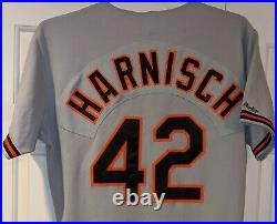 1989 Pete Harnisch Baltimore Orioles game used road jersey