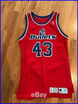 1992 93 Washington Bullets PERVIS ELLISON Authentic Game Used Worn Jersey NBA