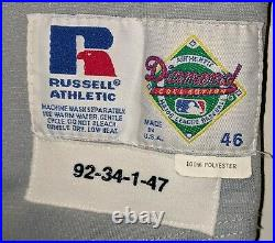 1992 Greg Gohr Detroit Tigers game used road jersey
