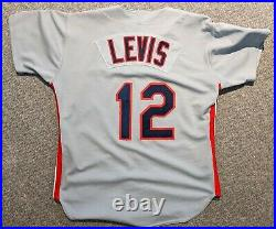 1993 Jessie Levis game used Cleveland Indians jersey Olin/Crews patch