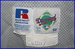 1995 Lee Smith California Angels Game Used Baseball Jersey, Russell Ath. SZ 50