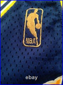 1996-1997 Game Worn Used Joe Smith Golden State Warriors Auto'd Jersey 48+3