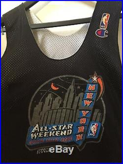 1998 Nba All Star New York City Nyc Practice Game Used Worn Jersey Shaq O'neal