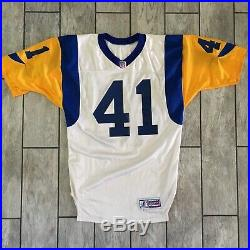 1998 Rams Jersey Authentic Game Used Worn Todd Lyght St. Louis Los Angeles Sz 46