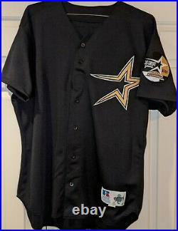 1999 Jose Lima Houston Astros game used #42 jersey Astrodome 35th year patch