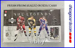 2000-01 Upper Deck NHL Legends Hockey HOBBY Box 1 Game-Used Jersey or Auto Card