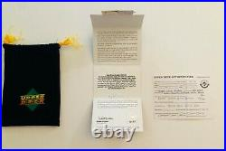 2001 UD C-Card Kobe Bryant Signed TRI COLOR Game-Used Jersey 11/100 UDA with Pouch