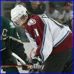 2003-04 Colorado Avalanche Peter Forsberg Game Worn Used Jersey TONS of wear