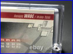 2003-04 Dwyane Wade Hoops Hot Prospects Game Graphs #334/400 Rookie Jersey Auto