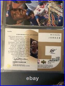 2003 Wizards michael jordan ud game jersey Patch Name Card