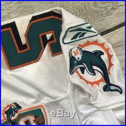 2004 05 Reebok NFL Jersey Junior Seau Miami Dolphins Game Used Worn Chargers 46