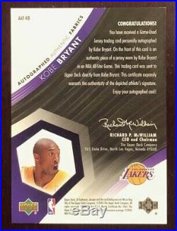 2004/05 SP Authentic Fabrics KOBE BRYANT Auto Game Used ALL-STAR Jersey /50 RARE