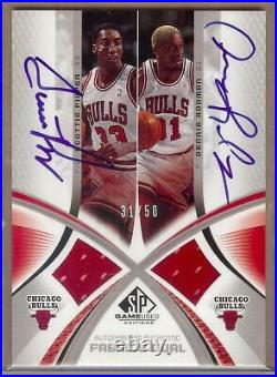 2004-05 Sp Game Used Scottie Pippen / Dennis Rodman Dual Auto Jersey 31/50