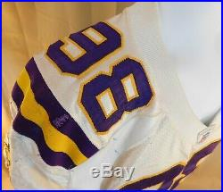 2004 Darrion Scott Minnesota Vikings Road game used Jersey with Team LOA HAMMERED