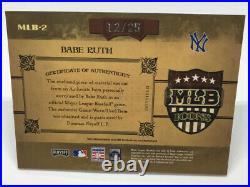 2004 Prime Cuts BABE RUTH Game Used Jersey MLB ICONS #12/25 YANKEES HOF