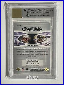 2004 SP GAME USED DUAL Jersey Signed Autograph TOM BRADY #/50 BGS 9 AUTO 10