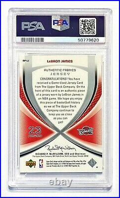 2005-06 SP Game Used LEBRON JAMES Authentic Fabrics Jersey Patch PSA 9 Mint