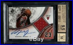 2005-06 SP Game Used Significant Numbers Michael Jordan Jersey AUTO /23 BGS 9.5