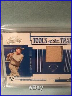 2005 absolute Tools Of The Trade Babe Ruth Game Used Jersey Pinstripe /50 yankee