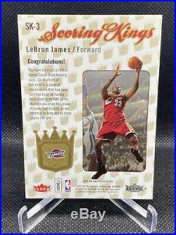 2007-08 Lebron James Fleer Ultra Scoring Kings Sk-3 Game Used Jersey Patch Rare