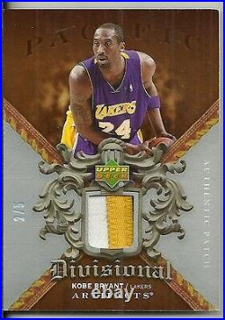 2007-08 UD Artifacts KOBE BRYANT 3 Color Game Jersey Patch LAKERS #d 2/5