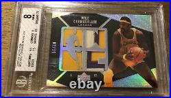 2007-08 UD Black #83 Wilt Chamberlain Game Used Worn Jersey Patch Card /25 Multi