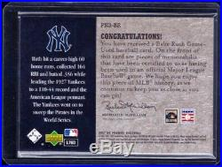 2007 Upper Deck Premier Remnants 3 Game Used Babe Ruth Jersey Relic Card #/75