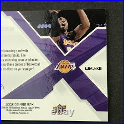 2008-09 KOBE BRYANT L. A LAKERS Upper Deck SPX Winning Materials GAME USED JERSEY
