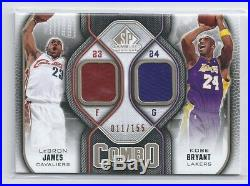 2009-10 SP Game Used Dual Jersey Patch Lebron James Kobe Bryant 11/155