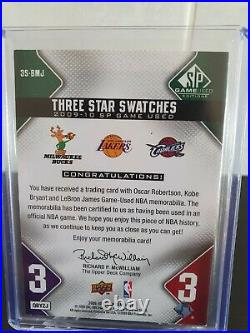 2009-10 SP Game Used KOBE BRYANT LeBRON JAMES ROBERTSON Jersey Patch /125 GOLD