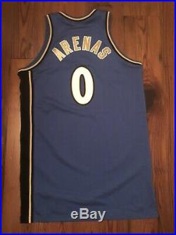 2009 Gilbert Arenas BLACK BAND Game Used Issued Wizards Jersey 50+4