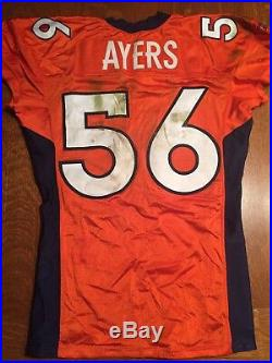 2009 Robert Ayers Game Used Worn Denver Broncos Rookie Jersey 50th Anniv Patch