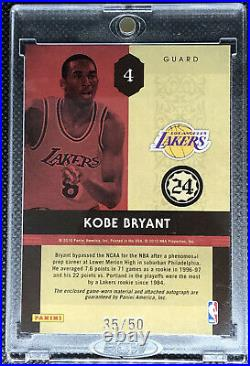 2009 Rookie Timeless Treasure Kobe Bryant Game Used Jersey ON CARD AUTOGRAPH /50