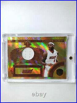 2010 Gold Standard Lebron James #Crowns Game Worn Jersey /249 Ready to Grade