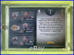 2011-12 LIMITED TRIPLE GAME USED PATCH ROSE WADE SP #24/25 1/1 KOBE BRYANT No