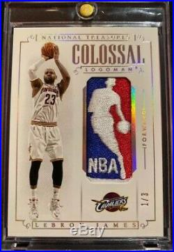 2014/15 National Treasures Lebron James Game Used Logoman Jersey Patch #1/3 1/1