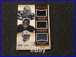 2014 Immaculate Barry Sanders Emmitt Smith Walter Payton Game-Used JERSEY #/25