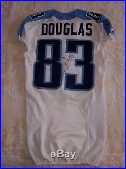 2014 Tennessee Titans NFL Game Used Worn Jersey #83 Douglas