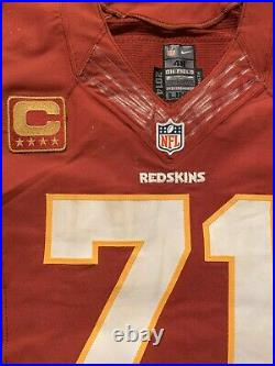 2014 Trent Williams Game Used Worn Redskins Jersey Gold Captains Patch Oklahoma