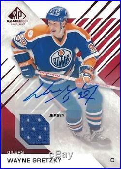 2016-17 UD SP Game Used Red Auto Jersey Wayne Gretzky